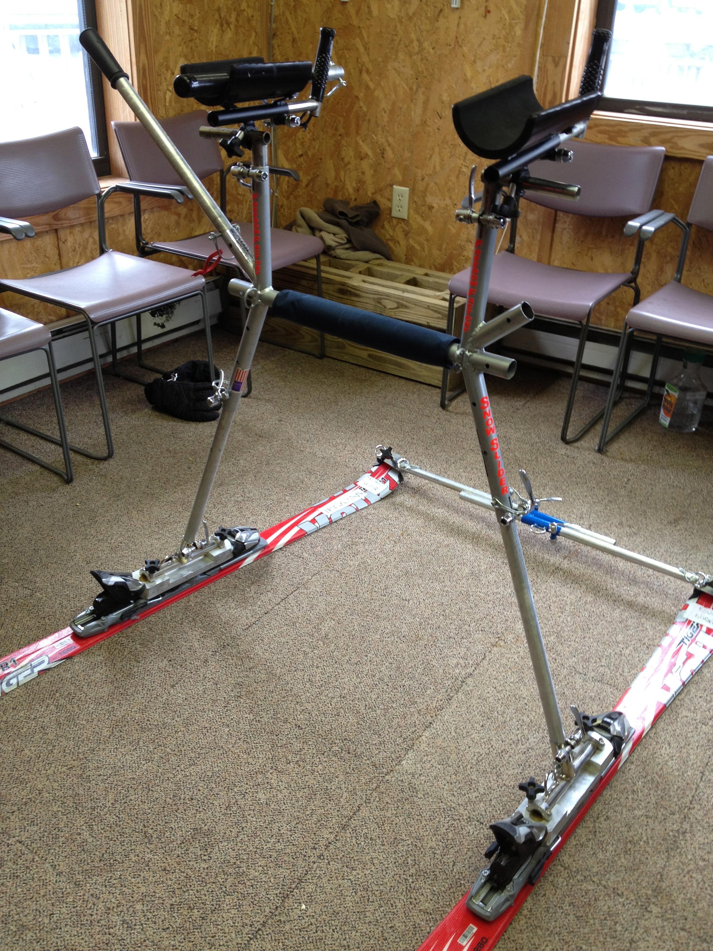 Adaptive Ski Slider Close Up
