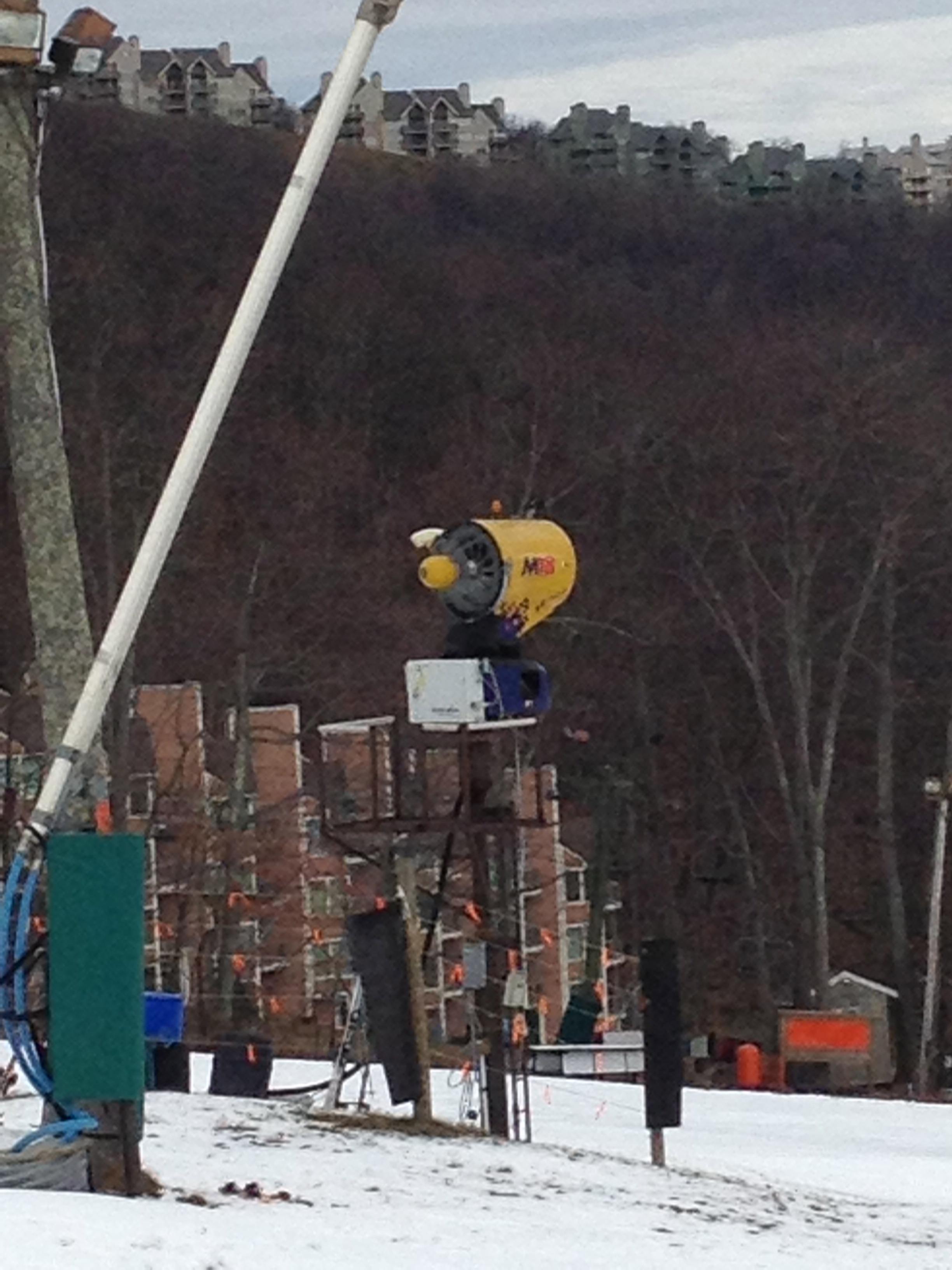 Snowmaking Gun and Machine