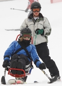 Sitski with Tethered Instructor